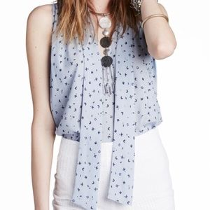 Free people tie neck blouse / tank